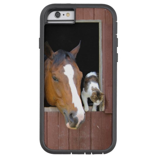 Cat and horse - horse ranch - horse lovers tough xtreme iPhone 6 case
