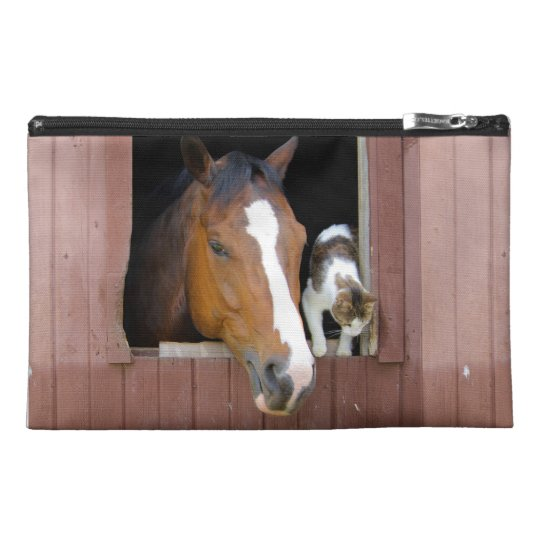 Cat and horse - horse ranch - horse lovers travel accessories bags
