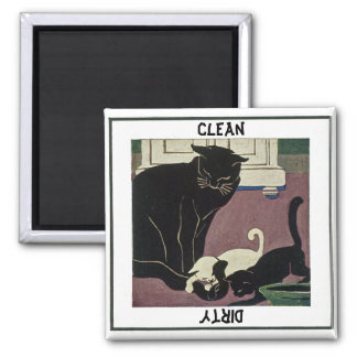 Cat and Kittens Dishwasher Magnet