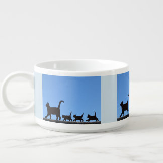 Cat And Kittens Silhouettes Bowl