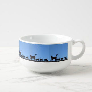 Cat And Kittens Soup Mug