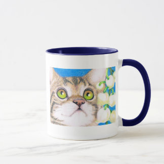 cat and lily of the valley Mug