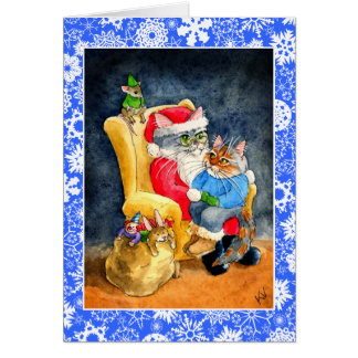 Cat and Mice Christmas or Holiday card