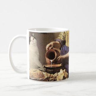 Cat and Milk Fine Art Mug