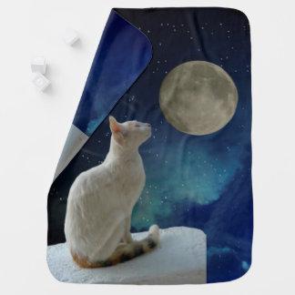 Cat and Moon Receiving Blanket