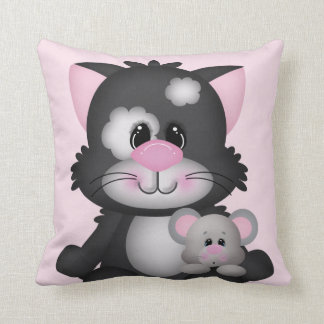Cat And Mouse Decorative Throw Pillow