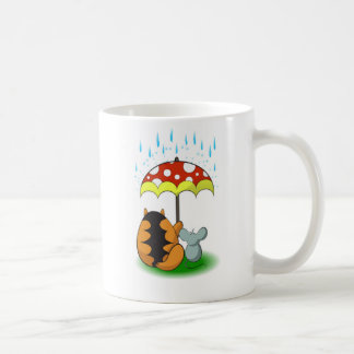 Cat and mouse, friendship and umbrella coffee mug