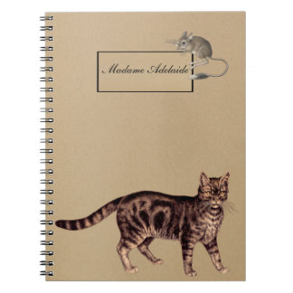 Cat and mouse - Old style Notebook