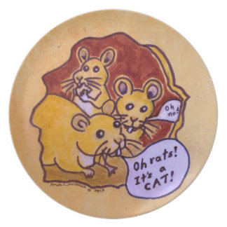 Cat and Mouse Plate