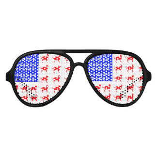 Cat and Paw Flag Aviator Sunglasses