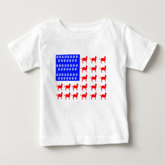 Cat and Paw Flag Baby T-Shirt