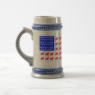 Cat and Paw Flag Beer Stein
