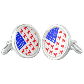 Cat and Paw Flag Cufflinks