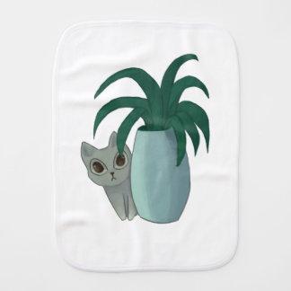 Cat and Plant 01 Burp Cloth