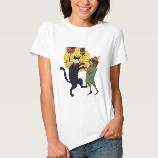 Cat And Pumpkin Masquerade T Shirt