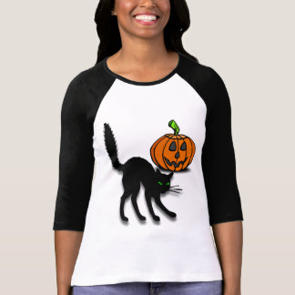Cat and Pumpkin T-Shirt