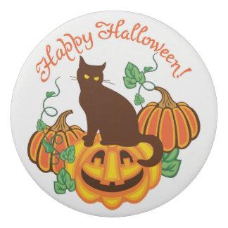 Cat and pumpkins eraser