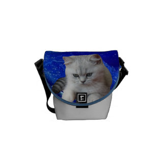 Cat and Rose Courier Bags