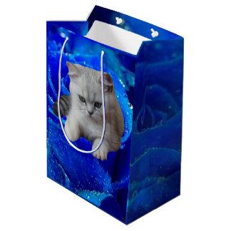 Cat and Rose Medium Gift Bag