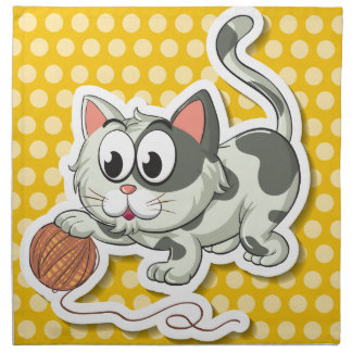 Cat and string napkins