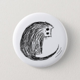 Cat and Tail 2 Inch Round Button