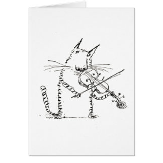 Cat and the Fiddle Card
