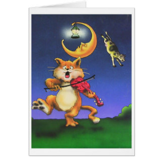 Cat and the Fiddle Children's Theme card