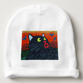 Cat and the flies baby beanie