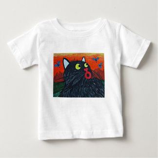 Cat and the flies baby T-Shirt