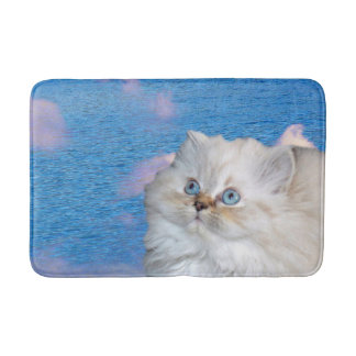 Cat and Water Bath Mat