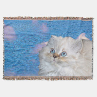 Cat and Water Throw Blanket