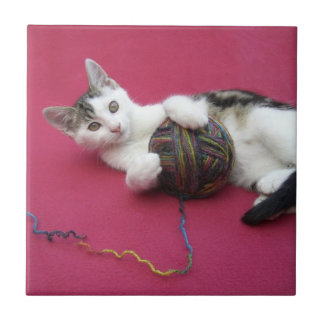 Cat and Yarn Tile
