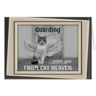 Cat Angel Sympathy Card