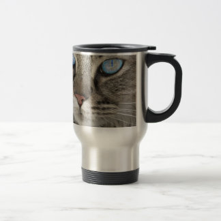 Cat Animal Cat Portrait Cat's Eyes Tiger Cat Travel Mug