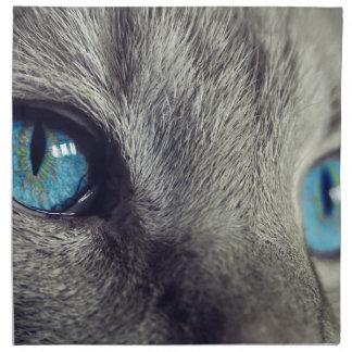 Cat Animal Cat's Eyes Eyes Pet View Blue Eye Napkin