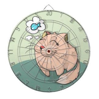 Cat animal fish thinking cute pet dartboard