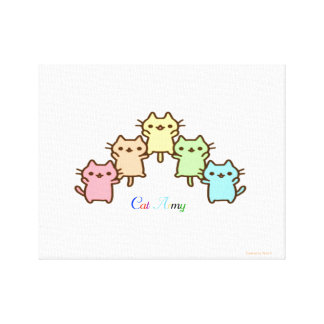 cat army canvas print