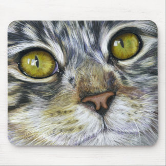 Cat Art - Blink Mouse Pad