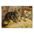 Cat Art Card:  Vintage Kitty Cats - Victorian Art Card