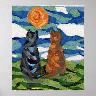 Cat Art Cat s Daydream Poster