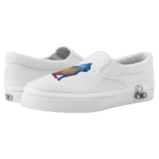 Cat art  Custom Zipz Slip On Shoes