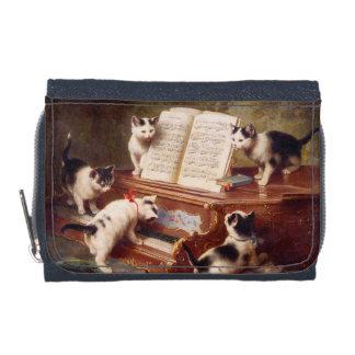 Cat Art: Vintage Painting: The Kitten's Recital Wallets