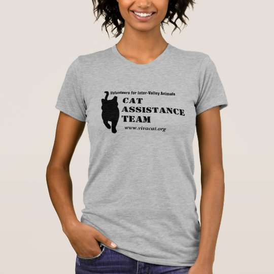 Cat Assistance Team--black logo for light apparel T-Shirt