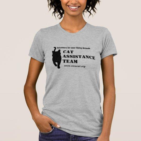 Cat Assistance Team--black logo for light apparel T-Shirt