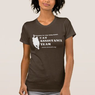 Cat Assistance Team--white logo for dark apparel T-Shirt