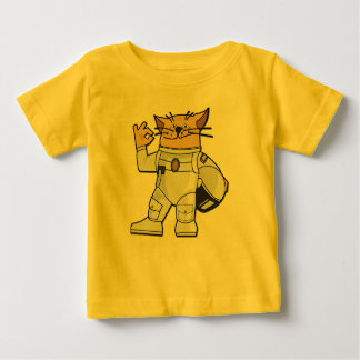 Cat Astronaut Baby T-Shirt