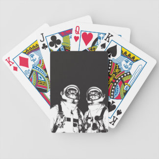 cat astronaut - black and white cat - cat memes bicycle playing cards