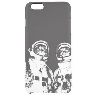 cat astronaut - black and white cat - cat memes clear iPhone 6 plus case