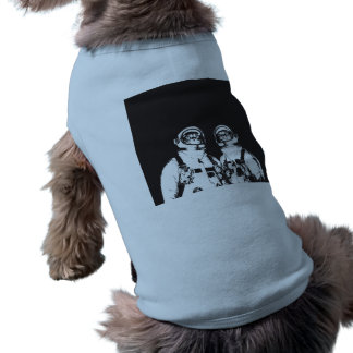 cat astronaut - black and white cat - cat memes doggie shirt