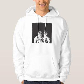 cat astronaut - black and white cat - cat memes hoodie